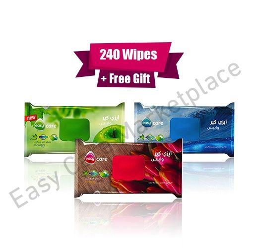 Easy Care Easy Care Wipes Bundle of 3 Fresh Wipes - 80 Wipes