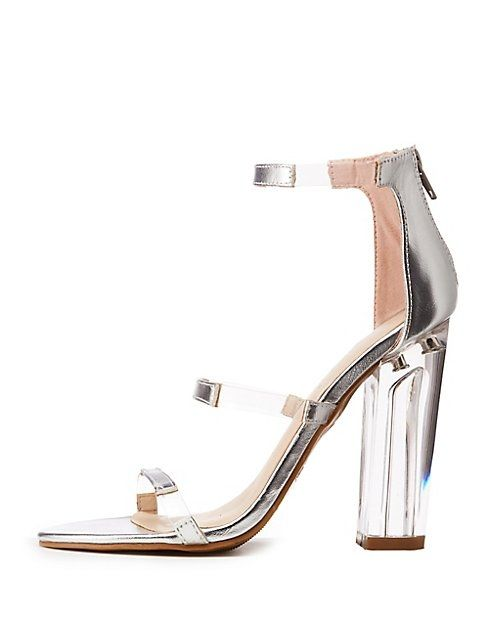 e091586d466 Charlotte Russe Bamboo Clear Heel Ankle Strap Sandals Price in Egypt ...