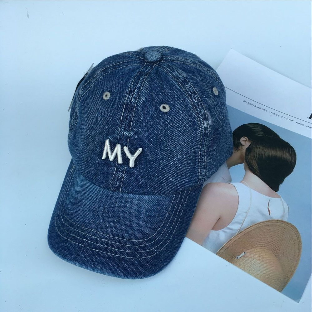 6b6bb2b1211 Eissely Fashion Women Ladies Casual Caps Hats Jeans Denim Baseball Cap Dark  Blue