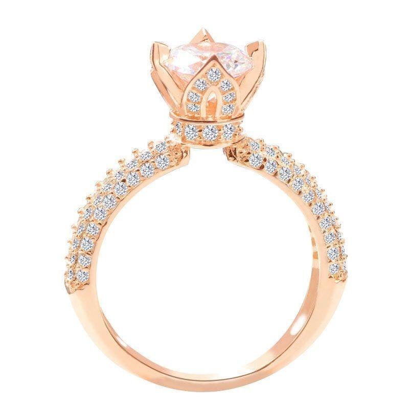 e313da14c3c Generic Center Diamond Ring - Rose Gold. updating Prices