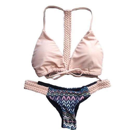 2149fab5a1 Fashion Woven Printed Swimsuit Beige. 235.00 جنية مصرى. 212.09. +11% ·  اشتري Universal Women Bandage Bikini Set Push-Up Padded Swimwear ...