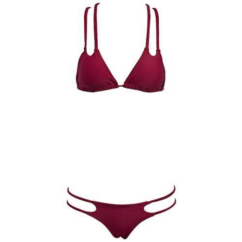 Generic Sexy Woven Straps Bikini - Red