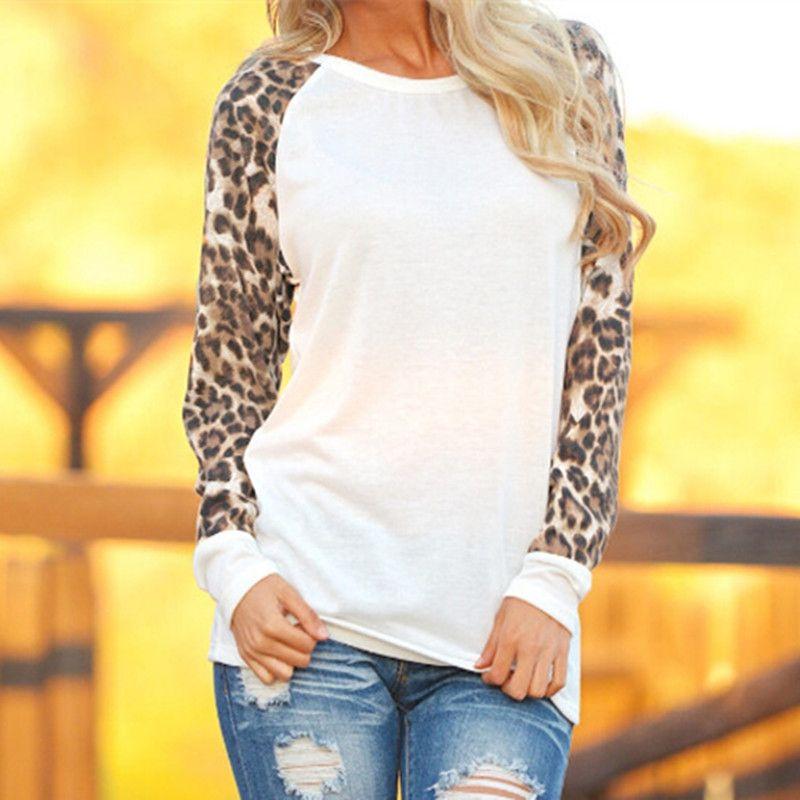 bce857dd2f59 Fashion ZANZEA Fashion Sexy Ladies Leopard Chiffon Top Blouse Long ...