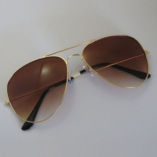 1de3d704c Generic Eclipse Glasses Unisex Men Women Classic Metal Designer Sunglasses  + Case Tea