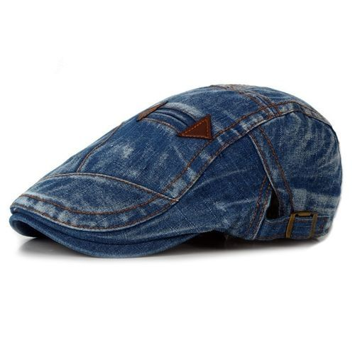 aa2733782b5 BlueLife Casual Fashion Jeans Beret Men Women Denim Hats Cowboy Outdoor Cap  - Blue