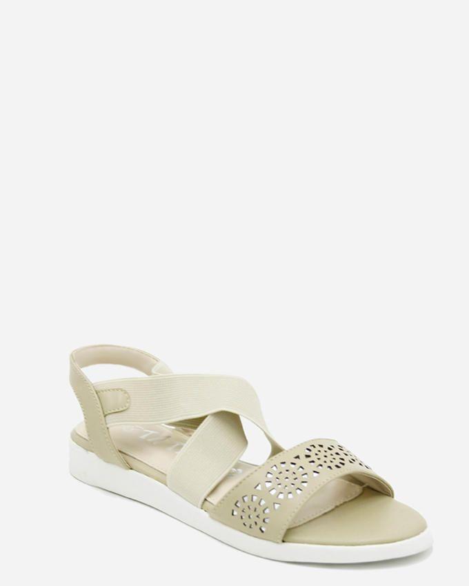 Tata Tio Elasticated Closure Sandals - Beige