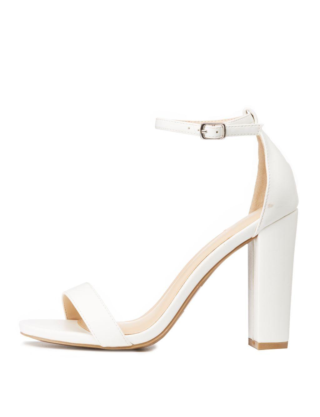 6ba3130a38 Charlotte Russe Ankle Strap Dress Sandals | Shoes | kanbkam.com