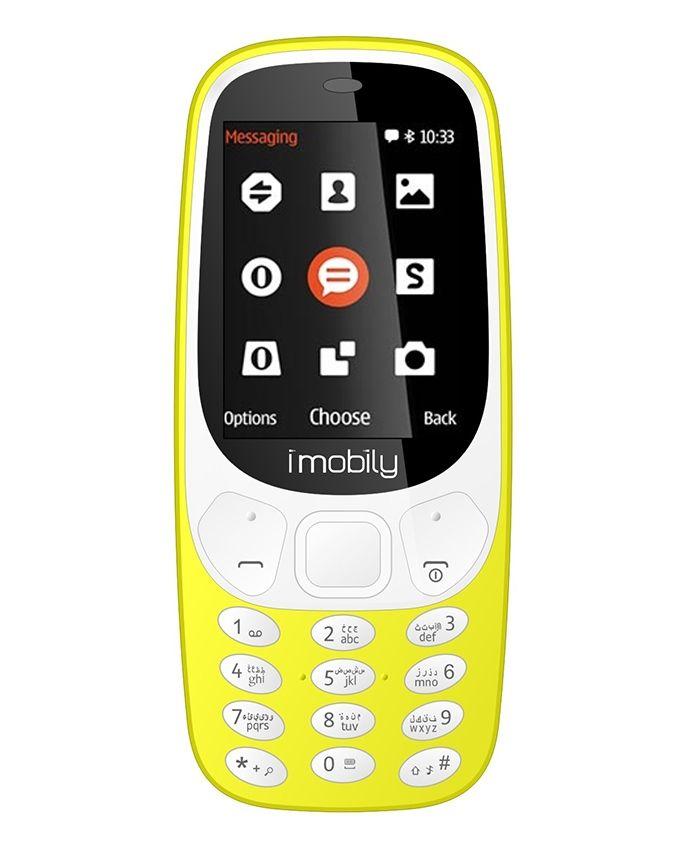 K3 - 2.4 Dual SIM Mobile Phone - Yellow