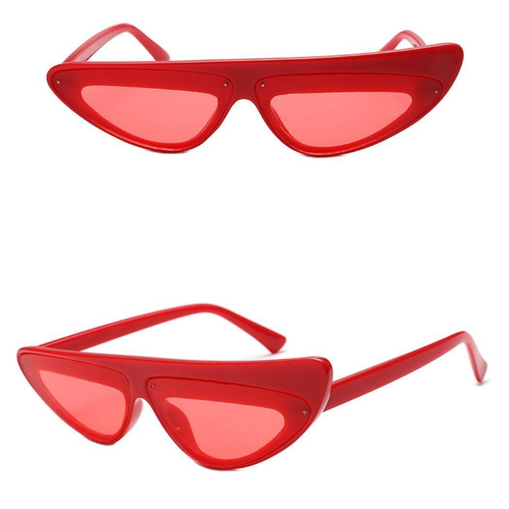 bef0d5649a0 Sunshine Women Retro Plastic Frame Triangular Lens Sunglasses UV400 ...