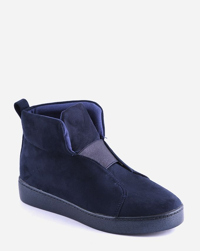 Joelle Suede Ankle Boots - Navy