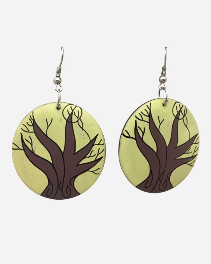 ZISKA Wooden Earrings - Brown