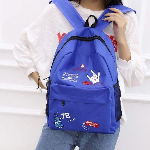 5736399f84e1 Generic Back To School! Women Girls Preppy Letter Print Shoulder Bookbags  School Travel Backpack Bag