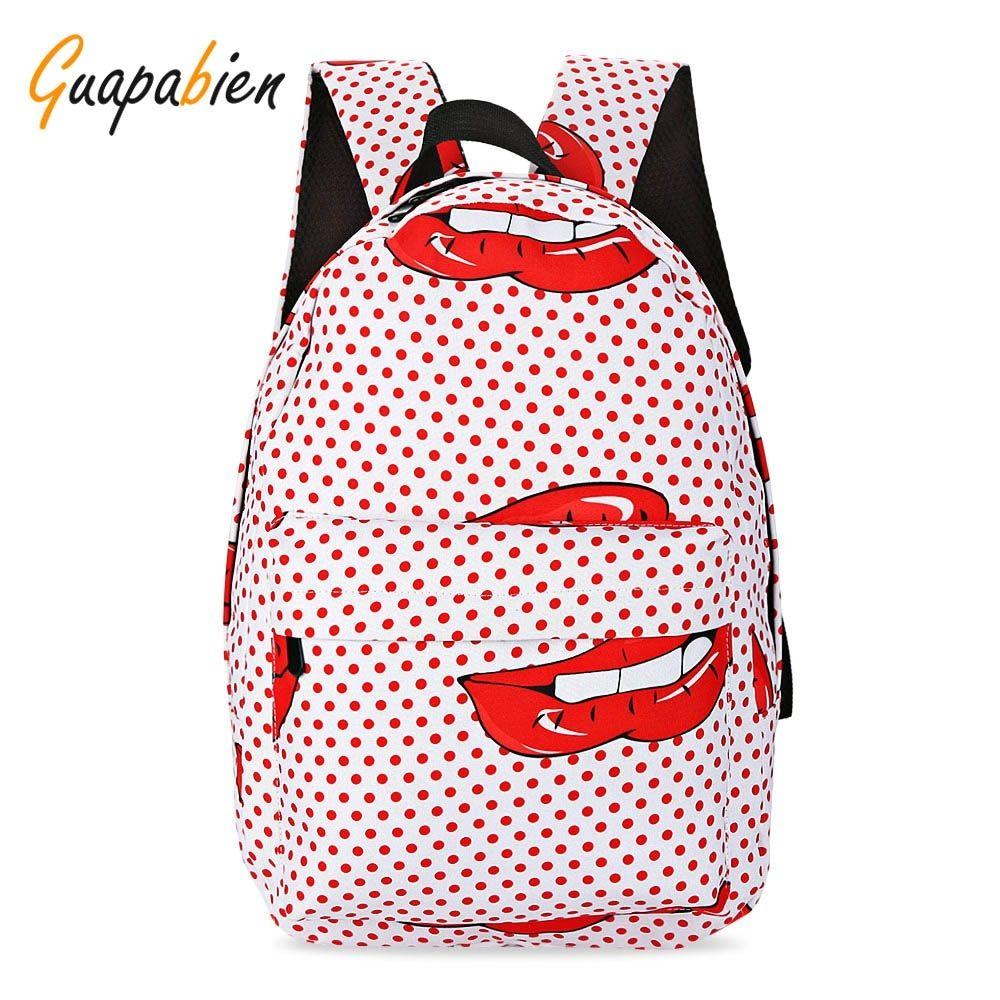 32c34df533e9 Generic Leadsmart Guapabien Preppy Style Print Backpack School Bag for Girls