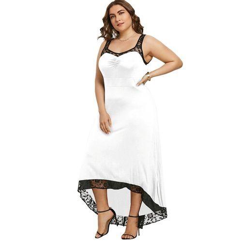 f50b0a42e08c65 Nextmia Plus Size High Low Maxi Party Dress_WHITE Price in Egypt ...