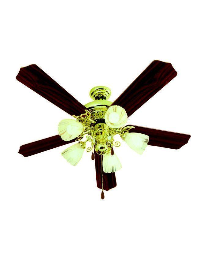 Fresh Victoria Ceiling Fan 5 Blades Free Installation Gold
