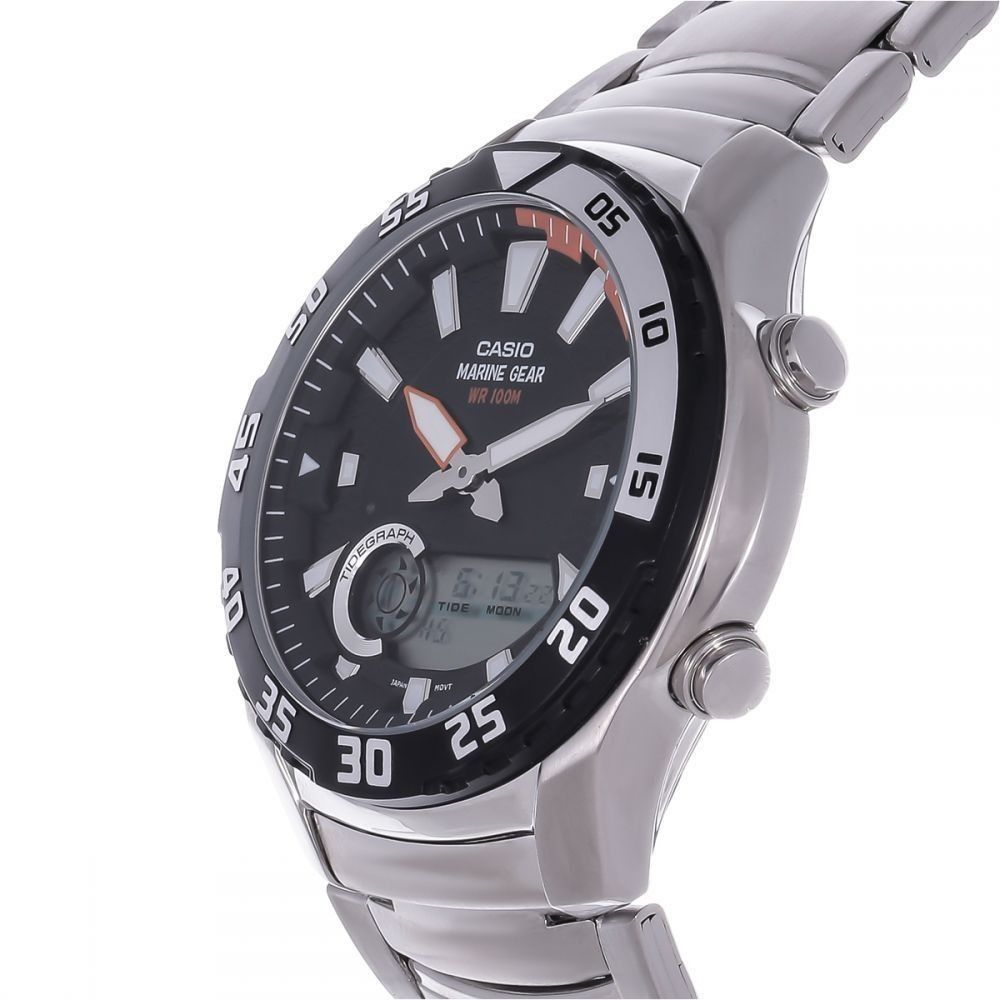 9eae3504b Casio ساعة ستانليس ستيل AMW-710D-1AVDF - فضى | ساعات | كان بكام .كوم