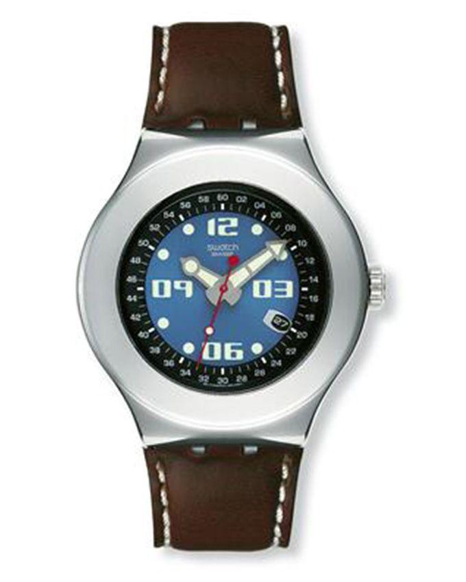 3b07302c8 سعر Swatch YNS401 Leather Watch – Brown فى مصر   جوميا   ساعات   كان ...