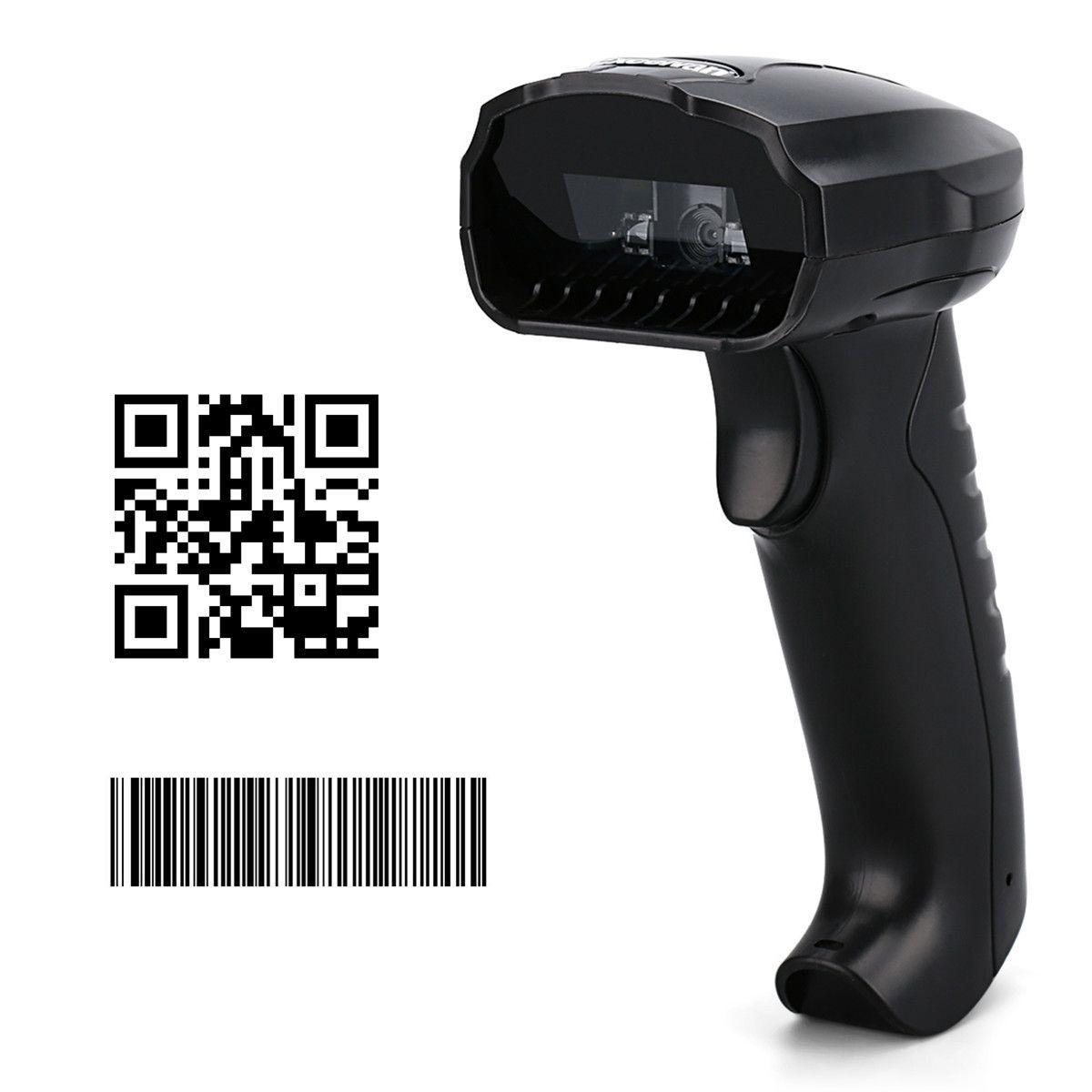 Excelvan 1D 2D QR Code Image Barcode Scanner - Black Price