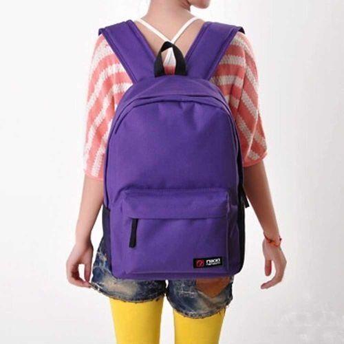 Generic Fovibery Women Men Student Backpack School Shoulder Backpack Handle  Bag Purple 32c2ad9b74b4f