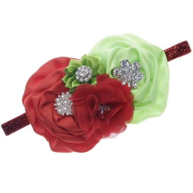 0952b105b5b Eissely Baby Girl Flower Hair Accessories For Girls Infant Elastic  Rhinestone Hair Band