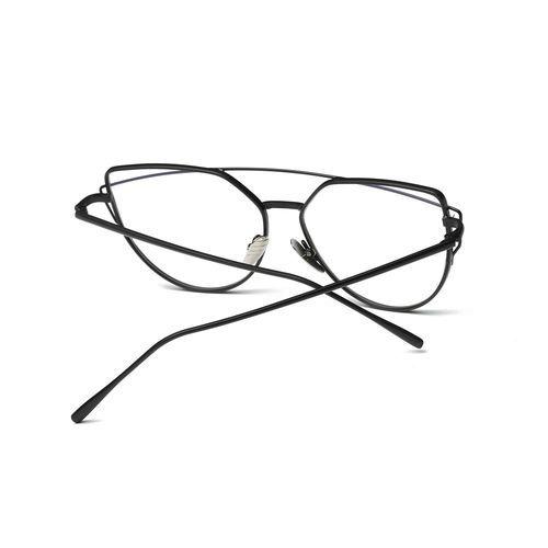 c53ae33404d Generic Generic Fashion Twin-Beams Classic Women Metal Frame Mirror  Sunglasses Cat Eye Glasses A2