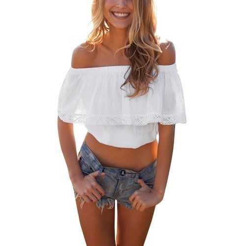 bef9068a American Eagle AE Smocked Off-The-Shoulder Crop Top Price in Egypt ...