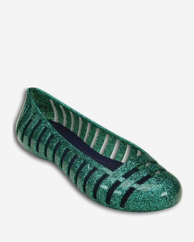 81713c119 Crocs Adrina II Glitter Flat Shoes - Tropical Teal Nautical Navy ...