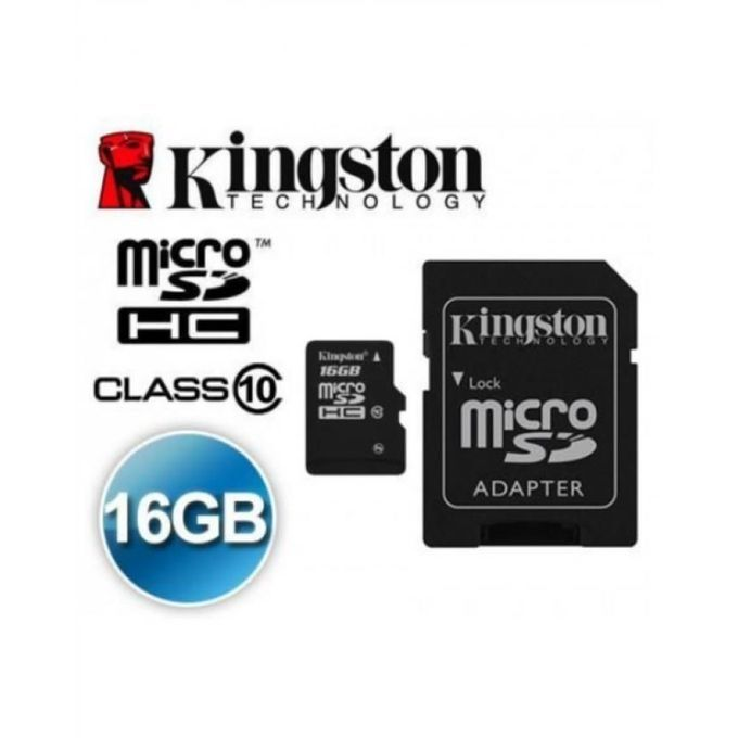 Kingston Card Memory Micro SD 16 GB - Class 10