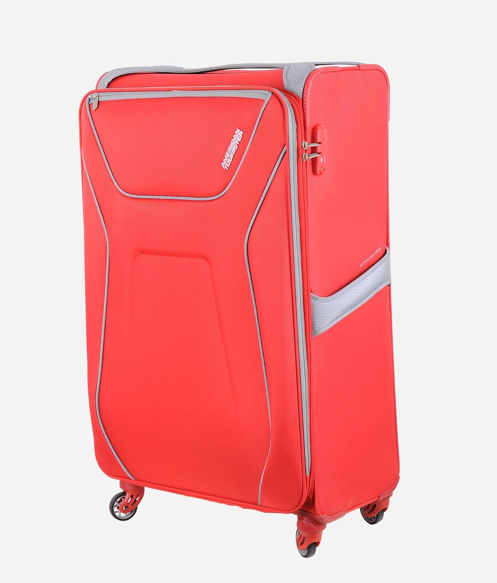 American Tourister Air Shield Spinner Red 82cm  8b0488f5aa8de