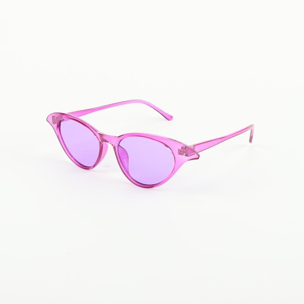 7fa673f0ff Sunshine Women Fashion UV Protection Cat Eye Super Slim Sharp Edges ...