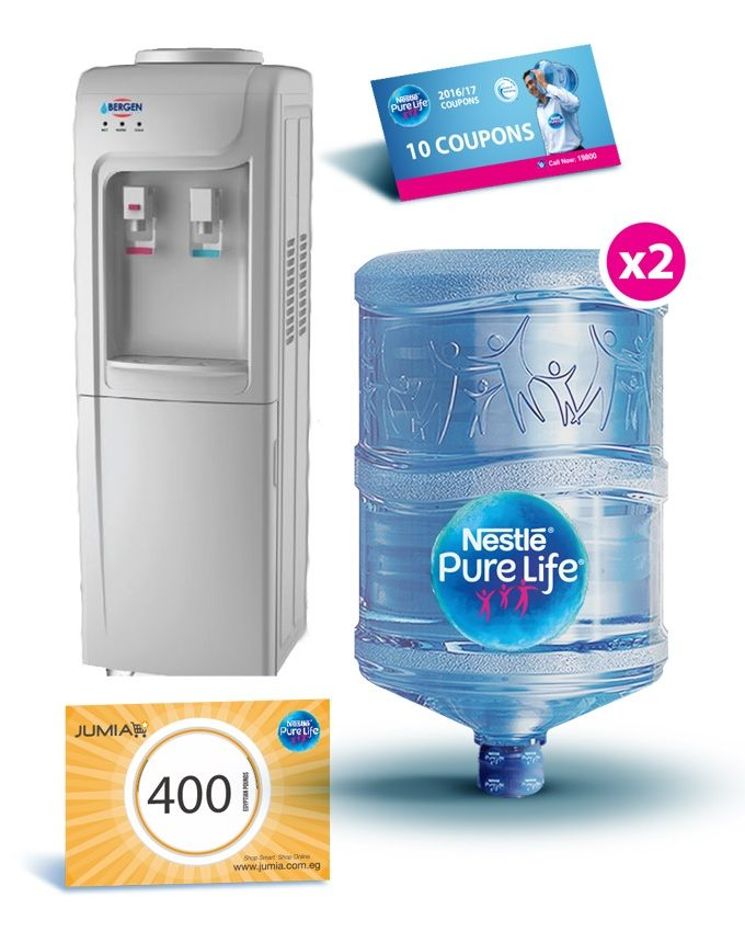 1b2417cb47 Nestlé Pure Life BY90 Hot & Cold Water Dispenser - Silver + 2 Empty ...