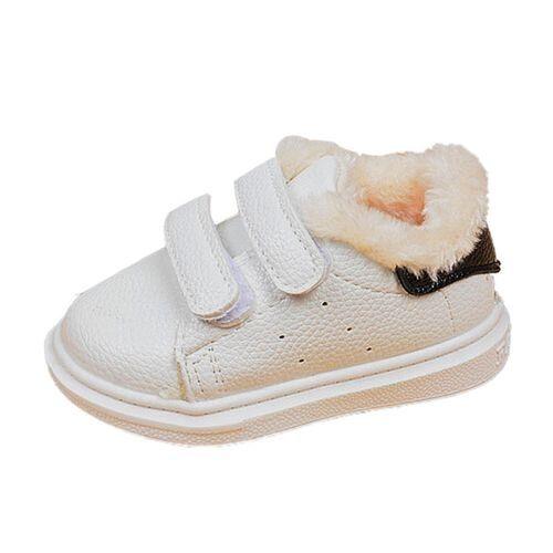 d17e12ab3e09 Yiqu Infant Toddler Kid Boys Girls Cute Warm White Baby Soft Sole ...