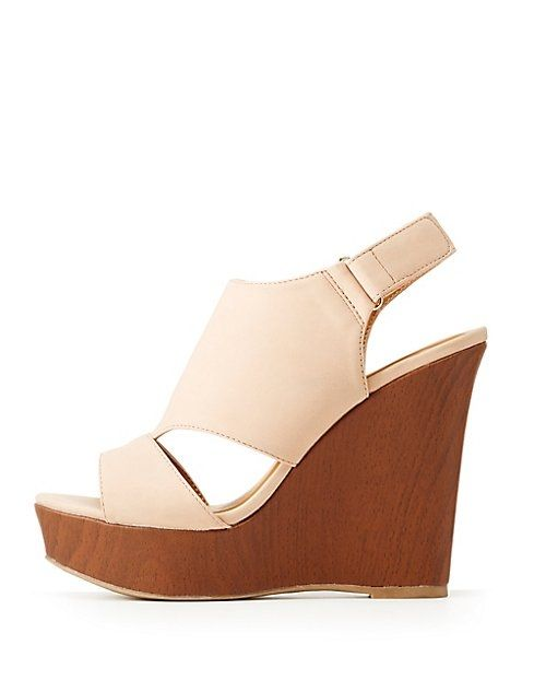69f9cf0bc1db Charlotte Russe Peep Toe Wedge Sandals Price in Egypt