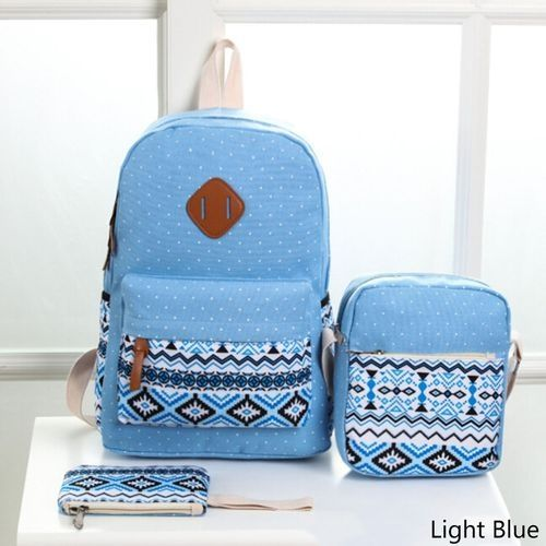 872e571869 Fashion New 3pcs Set Backpack Women Canvas Travel Bookbags School ...