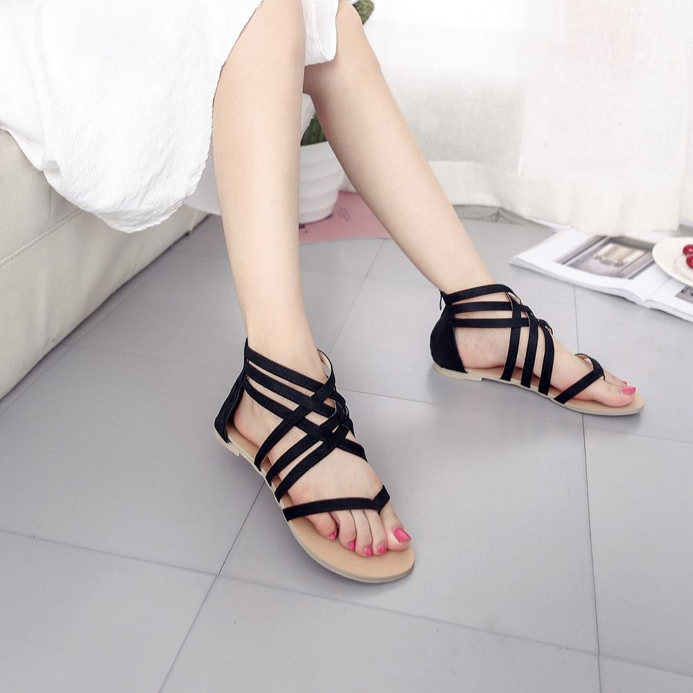 e759d8a5e Generic Tectores Women Bohemian Flat Sandals Shoes Gladiator Flops Strap  Flip Toe ShoesGift