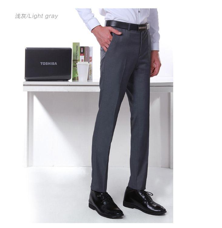 1d2e90886f47 Yingwoo Trousers Hot Sale Men Suit Pants Male Slim Fit Dress ...