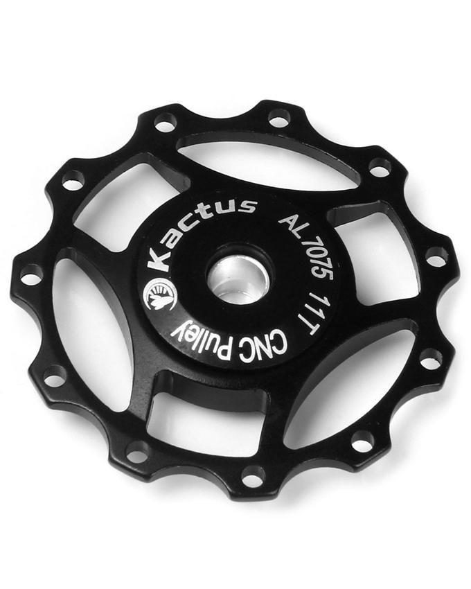 Generic A10 - Guide Roller Wheel Rear Derailleur Pulley For SHIMANO SRAM/7/8 /9/10 Speed - Black
