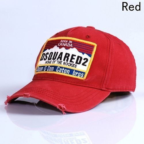6a50391cce8 Fashion DSQ Baseball Cap Red Blue Black Cotton Sun Hat Letters Printed Cap  Fashion Accessories