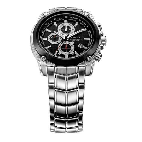 1384b1db0 Louis Will West Teng CITOLE 6 Pin Multifunction Mens Thin Quartz  Chronograph Sport Watch Waterproof Strip (Black)