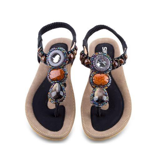 762cb8077c9a88 Siketu Women s Flat Sandals - Black