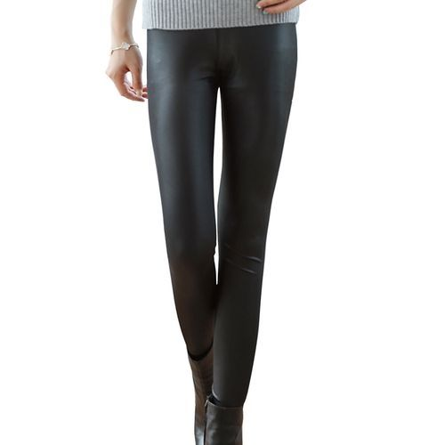 b5a08b96847 Fashion Women Sexy Shiny Metallic Brushed High Waist Pants Black Stretchy  Faux Leather Leggings Plus Size. updating Prices