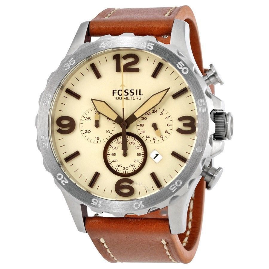 Fossil Jr1503 Leather Watch Brown Watches Fs5068