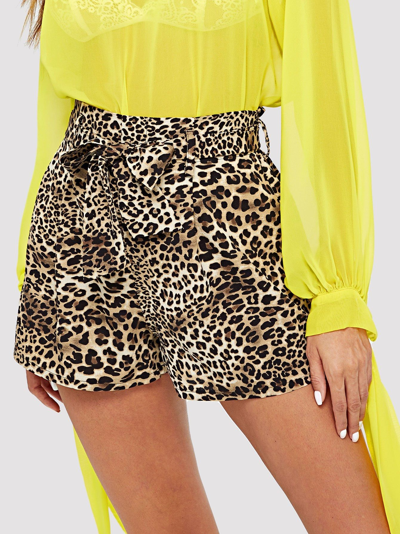 640b7db3475a8 SHEIN Self Belted Leopard Shorts Price in Egypt | Jumia | Shorts ...