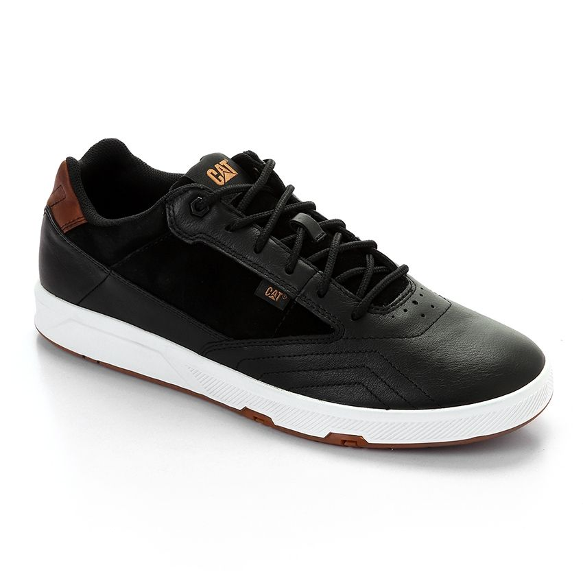 233e165d9 سعر CAT High Made Men Leather Bi-Tone Sneakers - Black & Camel فى ...