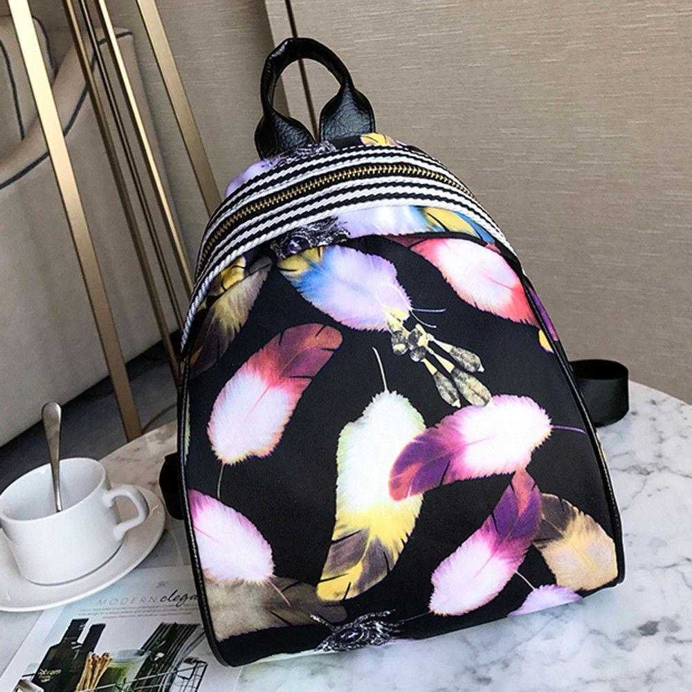 5be79f400 Neworldline Women Girls Print Cute Preppy Style School Bag Travel Backpack  Bag -C