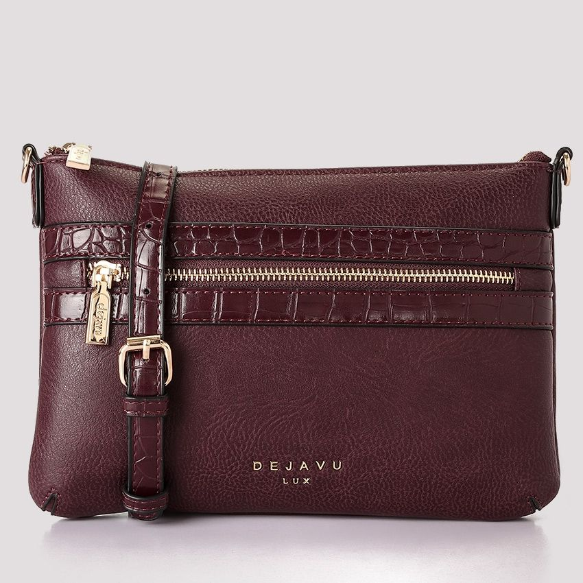 05d3eb69fa89 Buy Dejavu Women Leather Shoulder Clutch Bag - Burgundy in Egypt