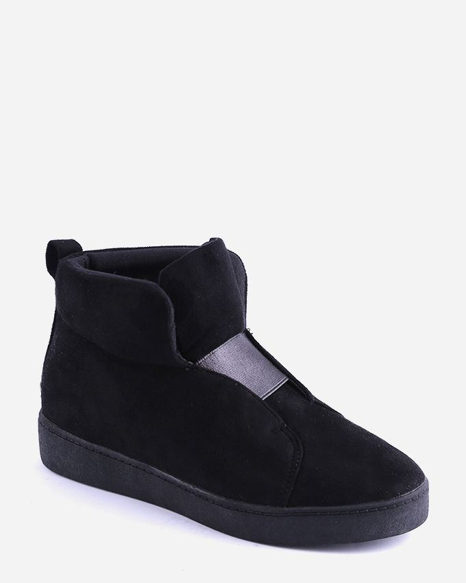 Joelle Suede Ankle Boots - Black