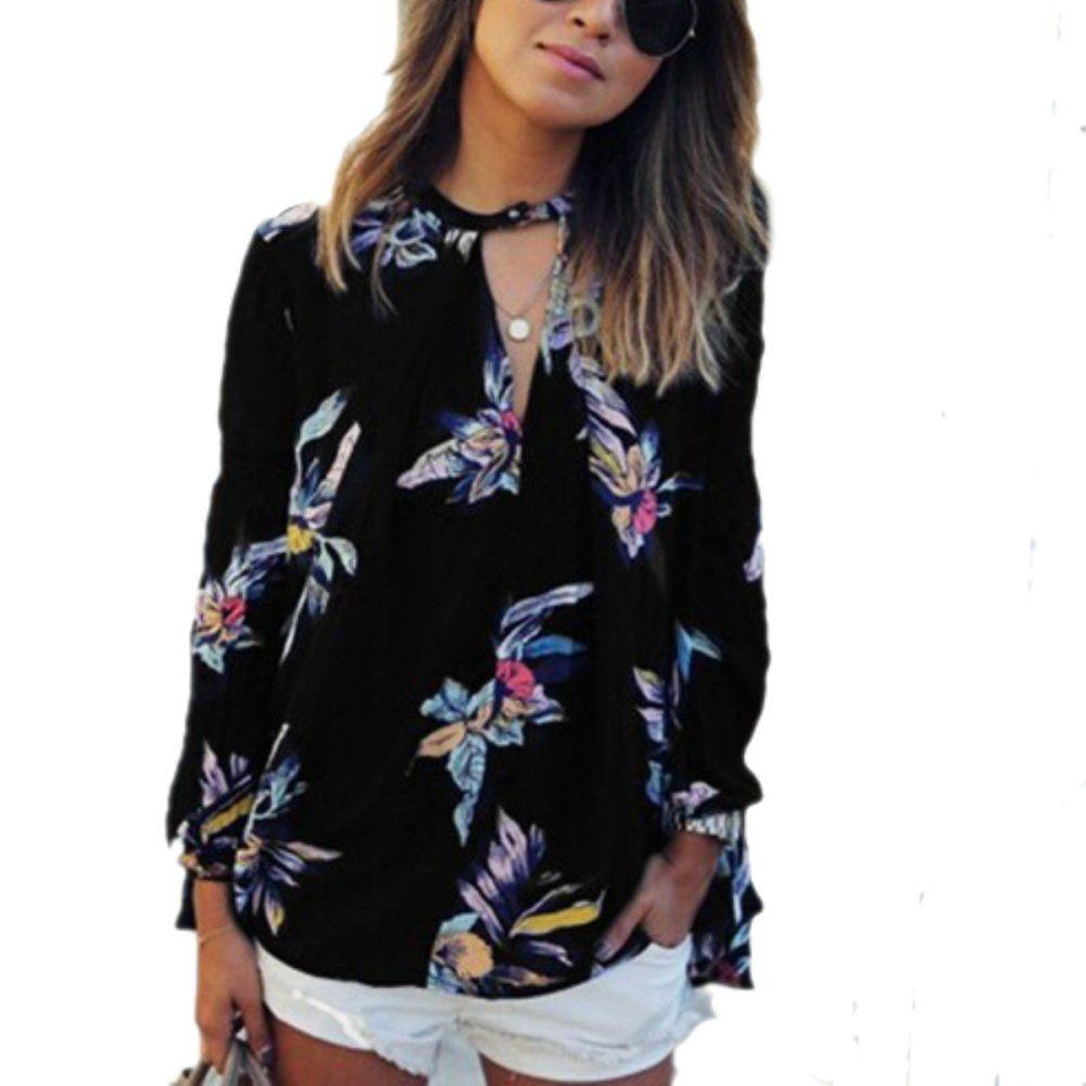 ffaf35e98e1 ZANZEA ZANZEA Value For Money Retro Floral Print Shirt Blouse Loose ...