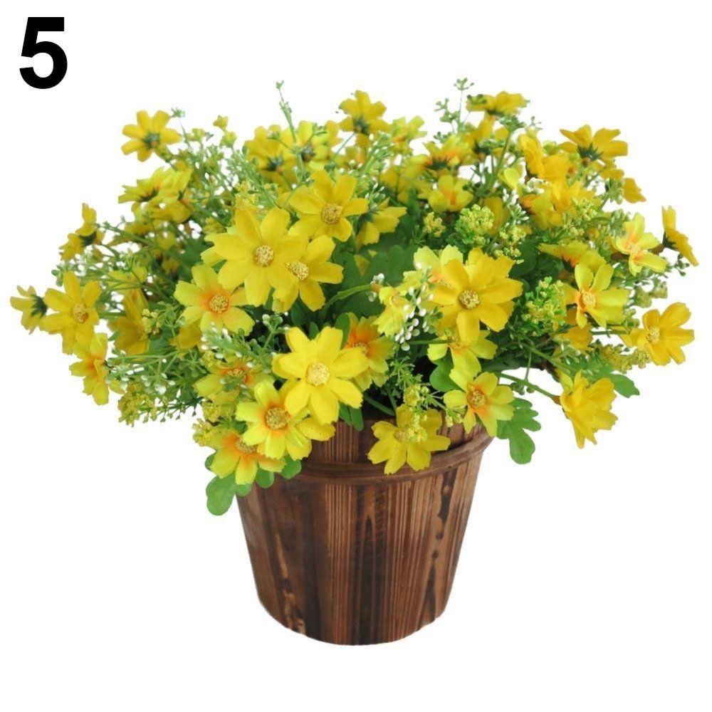 Bluelans 1 Bouquet 28 Heads Artificial Fake Cute Daisy Flower Home