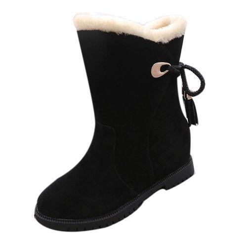 424f82a1a Neworldline Snow Boots Winter Ankle Boots Women Shoes Heels Winter ...